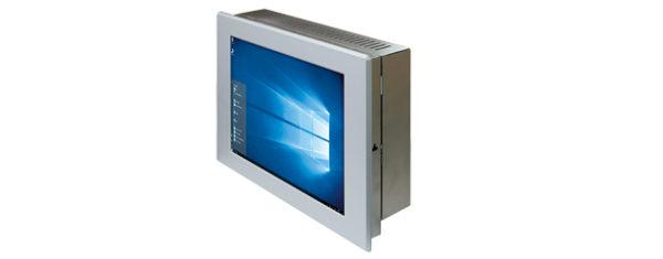 Panel PC mit 10,4 Zoll Display und Touchscreen oben