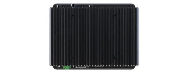 Panel PC mit 8,4 Zoll SVGA Display, lüfterlose CPU und resistiven oder projected capacitven (pcap) Touchscreen Rückseite