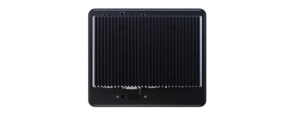 Panel PC mit 10,4 Zoll SVGA Display- lüfterlose CPU und resistiven oder projected capacitven (pcap) Touchscreen Rückseite