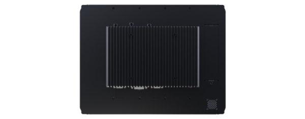 Panel PC mit 15 Zoll XGA Display- lüfterlose CPU und resistiven oder projected capacitven (pcap) Touchscreen Rückseite