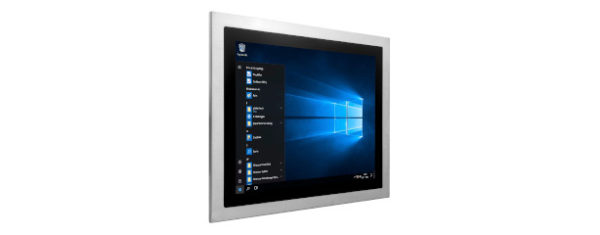 Panel PC mit 15 Zoll XGA Display, lüfterlose Skylake CPU und resistiven oder projected capacitven (pcap) Touchscreen Edelstahl