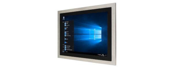 Panel PC mit 17 Zoll XGA Display, lüfterlose CPU und resistiven oder projected capacitven (pcap) Touchscreen Edelstahl