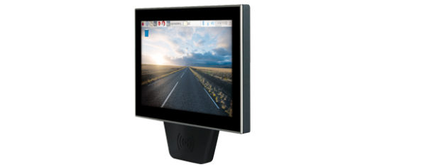 Industrial Raspberry-Pi-3 PC mit 10,1 Zoll Multitouch-LCD, RFID und PoE - seitlich