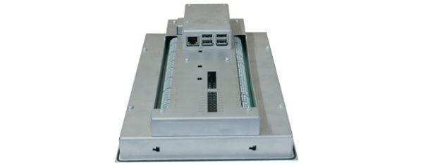 Industrial Raspberry-Pi-3 Panel PC mit 10,1 Zoll wide screen Multitouch und PiXtend v2-l - Schnittstellen seitlich
