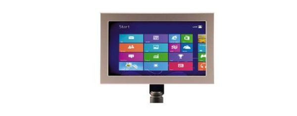 Industrial all-in-one PC mit 10,1 Zoll wide screen Display und Multitouch