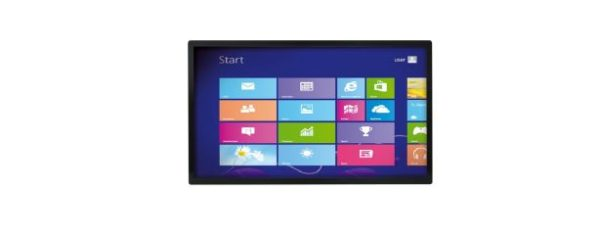 Industrial all-in-one PC mit 55 Zoll Full HD Display und Multitouchscreen