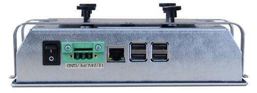 RPi07-Panel-PC Schnittstellen mit Klammer