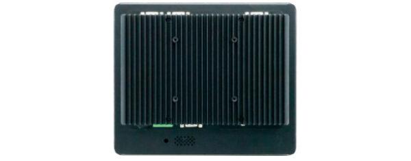 Panel PC mit 8,4 Zoll SVGA (800x600) TFT, lüfterlose CPU und resistiven oder projected capacitven (pcap) Touchscreen Rückseite
