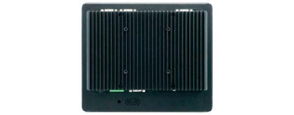 Panel PC mit 10,4 Zoll XGA (1024x768) TFT, lüfterlose CPU und resistiven oder projected capacitven (pcap) Touchscreen Rückseite