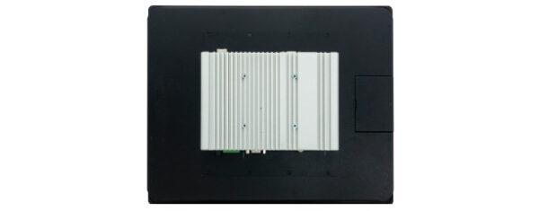 Panel PC mit 17 Zoll SXGA (1280x1024) TFT, lüfterlose CPU und resistiven oder projected capacitven (pcap) Touchscreen Rückseite